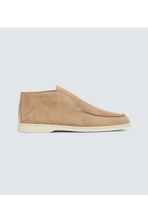 Loro Piana Men Boots - Open Walk suede ankle boots
