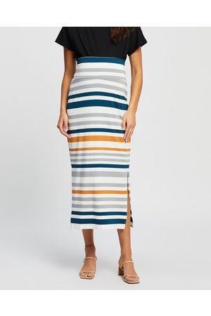 Angel Maternity Full Length Bamboo Maternity Fitted Skirt - Skirts ( , & Stripe) Full Length Bamboo Maternity Fitted Skirt