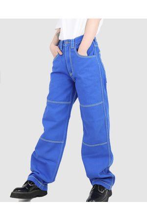 Dakota501 Women Bootcut & Flares - Carpenter Pant - Relaxed Jeans (Cobalt) Carpenter Pant
