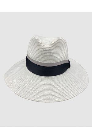 Jacaru 1867 White Panama Hat Ribbon - Hats 1867 White Panama Hat Ribbon
