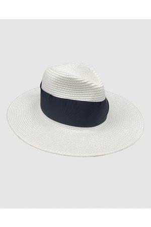 Jacaru Hats - 1867 White Panama Hat Ribbon - Hats 1867 White Panama Hat Ribbon