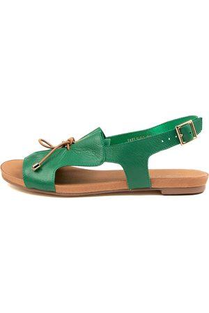 Django & Juliette Jaels Dj Emerald Tan Sandals Womens Shoes Casual Sandals Flat Sandals