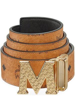 MCM Men Belts - Claus Reversible Logo Engraved Belt