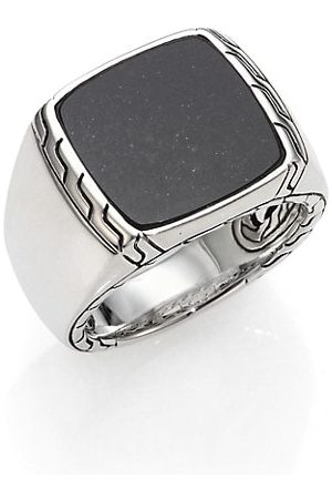 John Hardy Black Lapis & Sterling Silver Batu Ring