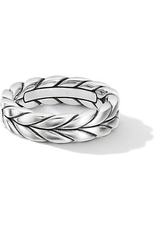 David Yurman Sterling Chevron Woven Band Ring