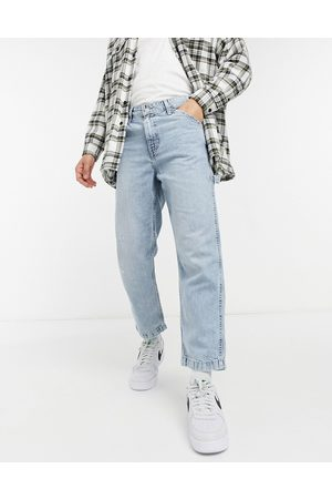 Levi's Youth tapered carpenter crop jeans in hundred choices light wash-Blue