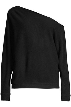 MINNIE ROSE Women Strapless Tops - Asymmetric Off-The-Shoulder Cashmere Top