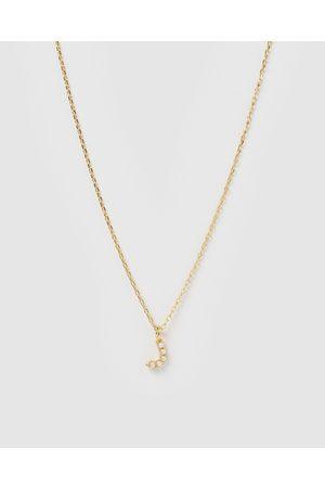 Izoa Women Necklaces - Pearl Letter J Necklace - Jewellery Pearl Letter J Necklace
