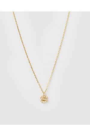 Izoa Pearl Letter S Necklace - Jewellery Pearl Letter S Necklace