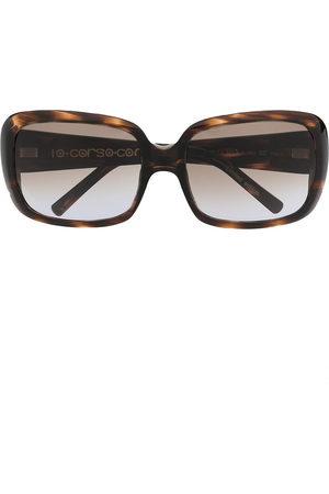 10 CORSO COMO Sunglasses - Tortoiseshell oversize-frame sunglasses