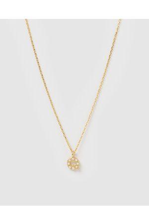 Izoa Women Necklaces - Pearl Letter Q Necklace - Jewellery Pearl Letter Q Necklace
