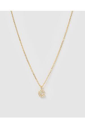 Izoa Women Necklaces - Pearl Letter C Necklace - Jewellery Pearl Letter C Necklace
