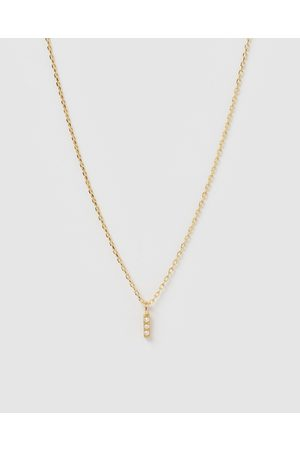 Izoa Women Necklaces - Pearl Letter I Necklace - Jewellery Pearl Letter I Necklace