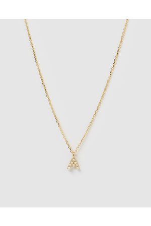 Izoa Pearl Letter A Necklace - Jewellery Pearl Letter A Necklace