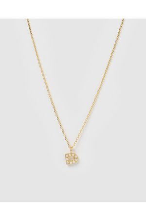 Izoa Pearl Letter D Necklace - Jewellery Pearl Letter D Necklace