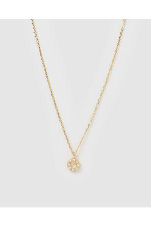Izoa Women Necklaces - Pearl Letter O Necklace - Jewellery Pearl Letter O Necklace