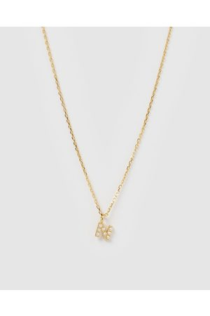 Izoa Pearl Letter N Necklace - Jewellery Pearl Letter N Necklace
