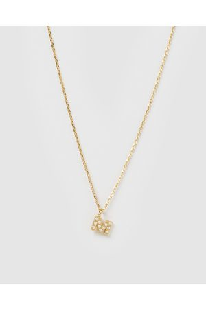 Izoa Women Necklaces - Pearl Letter M Necklace - Jewellery Pearl Letter M Necklace