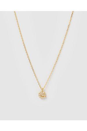 Izoa Women Necklaces - Pearl Letter H Necklace - Jewellery Pearl Letter H Necklace
