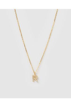 Izoa Women Necklaces - Pearl Letter R Necklace - Jewellery Pearl Letter R Necklace