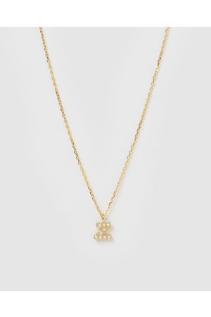 Izoa Pearl Letter Z Necklace - Jewellery Pearl Letter Z Necklace