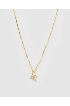Izoa Pearl Letter K Necklace - Jewellery Pearl Letter K Necklace