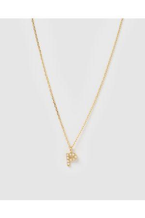 Izoa Women Necklaces - Pearl Letter P Necklace - Jewellery Pearl Letter P Necklace