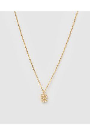 Izoa Women Necklaces - Pearl Letter B Necklace - Jewellery Pearl Letter B Necklace