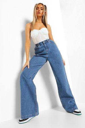 Boohoo Women Boyfriend - High Rise 90S Fit Dad Jeans- Mid