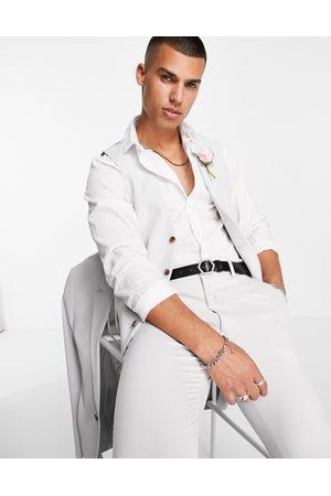 ASOS Wedding super skinny suit waistcoat in ice grey