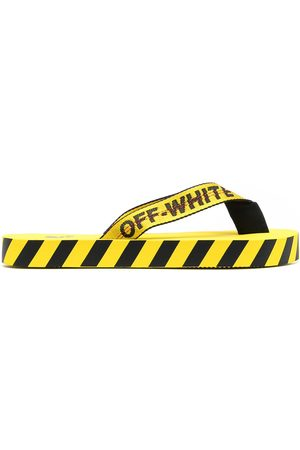 OFF-WHITE Men Thongs - Logo-tape detail flip-flops