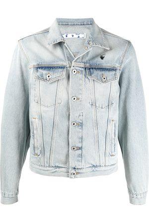 OFF-WHITE Men Denim Jackets - Bleach-wash denim jacket