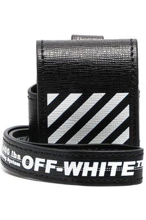 OFF-WHITE Men Phone Cases - DIAG SAFFIANO AIRPODS CASE WHITE