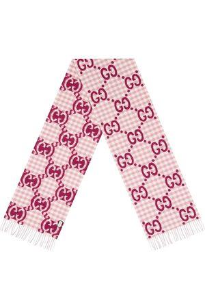 Gucci GG jacquard check scarf