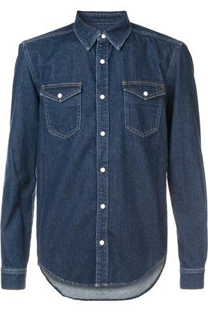 Givenchy Men Denim - Denim shirt with contrast logo trim