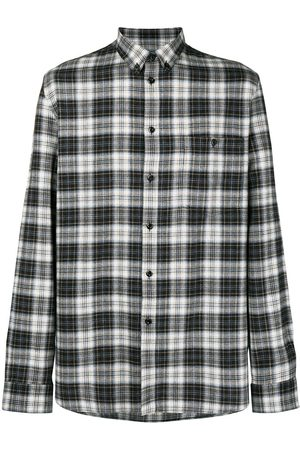 Givenchy Embroidered plaid flannel shirt