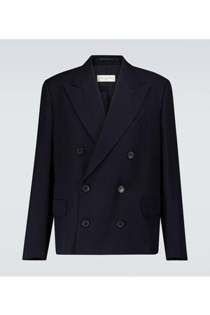 DRIES VAN NOTEN Double-breasted wool-blend blazer