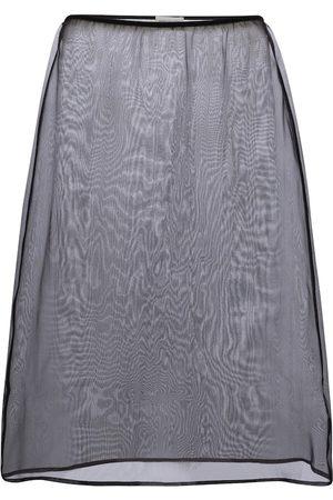 DRIES VAN NOTEN High-rise silk organza midi skirt