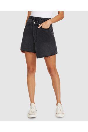 Neon Hart Winnie Wrap Denim Skirt Vintage