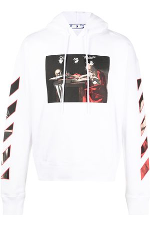 OFF-WHITE CARAVAGGIO OVER HOODIE RED