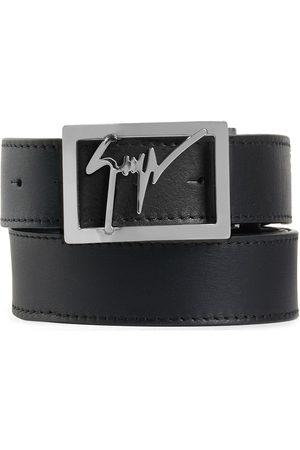 Giuseppe Zanotti Square logo buckle belt