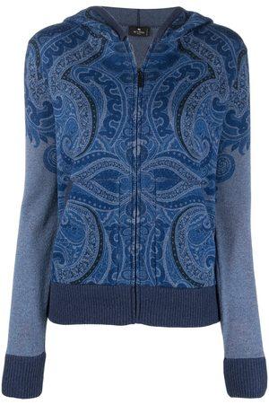Etro Paisley print cashmere hoodie