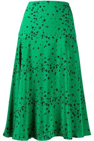Kenzo Abstract-print high-waisted skirt