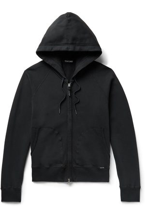 Tom Ford Garment-Dyed Fleece-Back Cotton-Jersey Zip-Up Hoodie