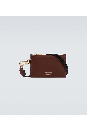 Tom Ford Leather wallet with neck strap
