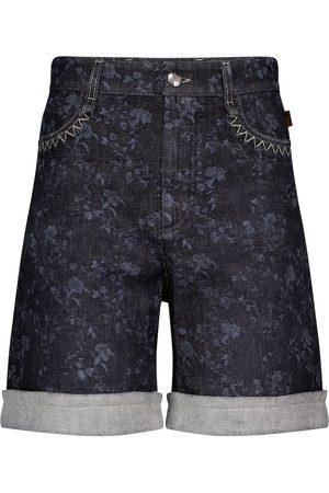 Chloé High-rise denim Bermuda shorts