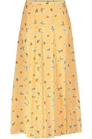 RIXO London Nancy houndstooth silk midi skirt