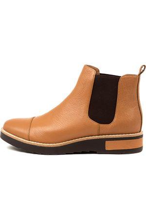 Django & Juliette Raquel Dj Scotch Choc Sole Boots Womens Shoes Casual Ankle Boots