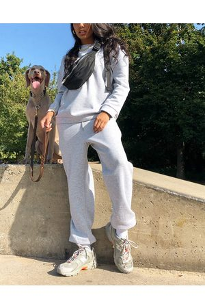 ASOS Tracksuit oversized sweatshirt / oversized trackies in grey marle