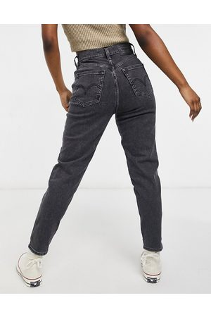 Levi's High waisted tapered jeans-Black
